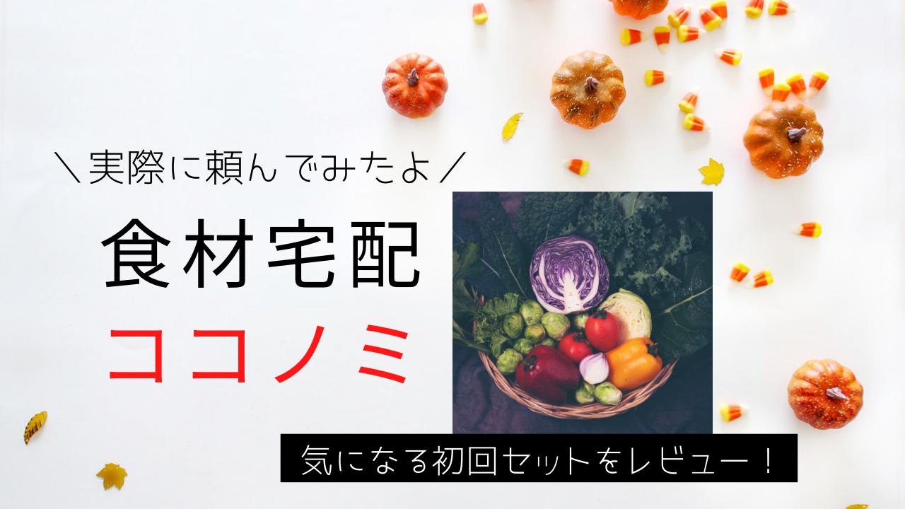 【野菜が美味しい】と評判の【ココノミ】を実際に試してみた。ポイントも使えてお得! | たらいくら飯